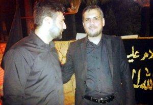 Links der Autor, rechts Ali Noureddine (Al-Manar)